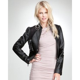 Bebe Leather Lace Jacket mua sắm online Thời trang Nữ