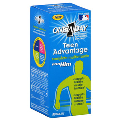 Ảnh số 9: One-A-Day Teen Advantage for Him. Lọ 80 viên - Giá: 350.000