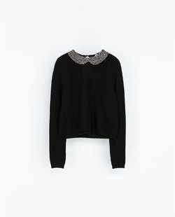 Ảnh số 53: ANGORA SWEATER WITH RHINESTONES ON THE COLLAR - Giá: 1.500.000