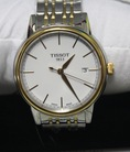 Tissot Carson White Dial Two tone Mens Watch T0854102201100, 40mm