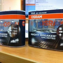 Bóng đèn Osram H4 Night Breaker Unlimited giá 600k
