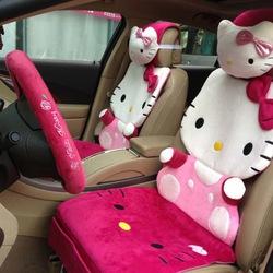 Bộ drap phủ ghế xe hơi Hello Kitty sang trọng đẳng cấp. Hàng nhập chính hãng Hello Kitty license từ Mỹ