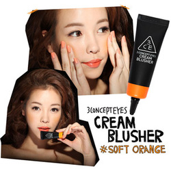 Ảnh số 24: 3 CONCEPT EYES CREAM BLUSHER # SOFT ORANGE - Giá: 245.000