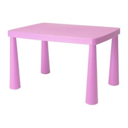 Bàn trẻ em MAMMUT Children's table, light pink